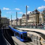 Montpellier Place de la Comedie met tram